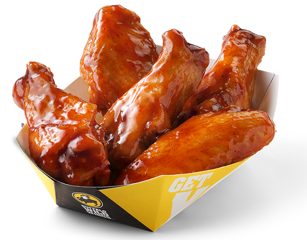 There are 72 calories in a 1 wing serving of Buffalo Wild Wings Traditional Wings.: Calorie breakdown: 65% fat, 0% carbs, 35% protein.